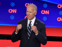 Democratic presidential hopeful Former Vice President Joe Biden speaks during the second round of the second Democratic primary debate of the 2020 presidential campaign season hosted by CNN at the Fox Theatre in Detroit, Michigan on July 31, 2019. (Photo by Jim WATSON / AFP) / ALTERNATIVE CROP (Photo credit …