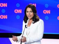 Democratic presidential hopeful US Representative for Hawaii's 2nd congressional district Tulsi Gabbard speaks during the second round of the second Democratic primary debate of the 2020 presidential campaign season hosted by CNN at the Fox Theatre in Detroit, Michigan on July 31, 2019. (Photo by Jim WATSON / AFP) (Photo …