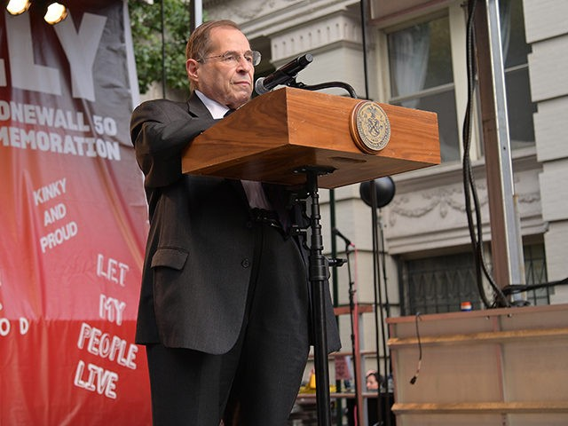 NEW YORK, NEW YORK - JUNE 28: Congressman Jerry Nadler addresses attendees during the Stonewall 50th Commemoration rally during WorldPride NYC 2019 on June 28, 2019 in New York City. (Photo by Michael Loccisano/Getty Images)