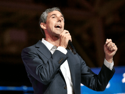 Beto O'Rourke speaks on stage at 2019 ESSENCE Festival Presented By Coca-Cola at Ernest N. Morial Convention Center on July 06, 2019 in New Orleans, Louisiana. (Photo by Paras Griffin/Getty Images for ESSENCE)