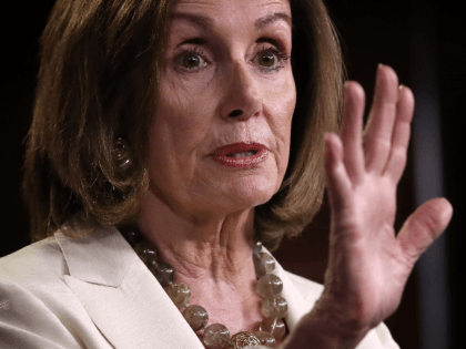 Speaker of the House Nancy Pelosi (D-CA) answers questions during a press conference at the U.S. Capitol on July 11, 2019 in Washington, DC. Pelosi answered a range of questions including comments on a recent flap with Rep. Alexandria Ocasio-Cortez and more progressive members of the House Democratic caucus. (Photo …