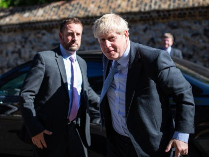 LONDON, ENGLAND - JULY 16: Conservative leadership candidate, Boris Johnson is seen arriving at a Westminster address on July 16, 2019 in London, England. Johnson is currently immersed in controversy over his historical comments made about Muslims. (Photo by Luke Dray/Getty Images)