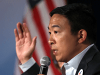 Democratic presidential hopeful Andrew Yang speaks during the AARP and The Des Moines Register Iowa Presidential Candidate Forum on July 19, 2019 in Sioux City, Iowa. Twenty democratic presidential hopefuls are participating in the AARP and Des Moines Register candidate forums that will feature four candidates per forum that are …