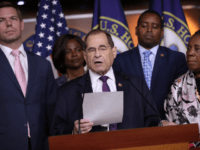 House Judiciary Committee Chairman Jerrold Nadler (D-NY) (C) and fellow Democratic members of the committee (L-R) Rep. Eric Swalwell (D-CA), Rep. Val Butler Demings (D-FL), Rep. Joe Neguse (D-CO) and Rep. Shelia Jackson Lee (D-TX) hold a news conference about this week's testimony of former special counsel Robert Mueller July …