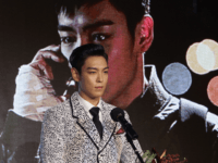 Actor T.O.P of Bigbang award a Rookie prize at Asia Star Awards during the 18th Busan International Film Festival on October 5, 2013 in Busan, South Korea. (Photo by Chung Sung-Jun/Getty Images)