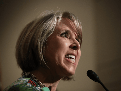 Rep. Michelle Lujan Grisham (D-NM), chairwoman of the Congressional Hispanic Caucus, delivers remarks following a meeting between U.S. Secretary of Homeland Security John Kelly and members of the Congressional Hispanic Caucus at the U.S. Capitol March 17, 2017 in Washington, DC. Kelly met with the group to answer questions on …