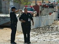 Sorora, Mexico, police at crime scene. (Ronaldo Schemidt/AFP/Getty Images)