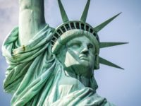 Close up of Statue of Liberty in New York, USA