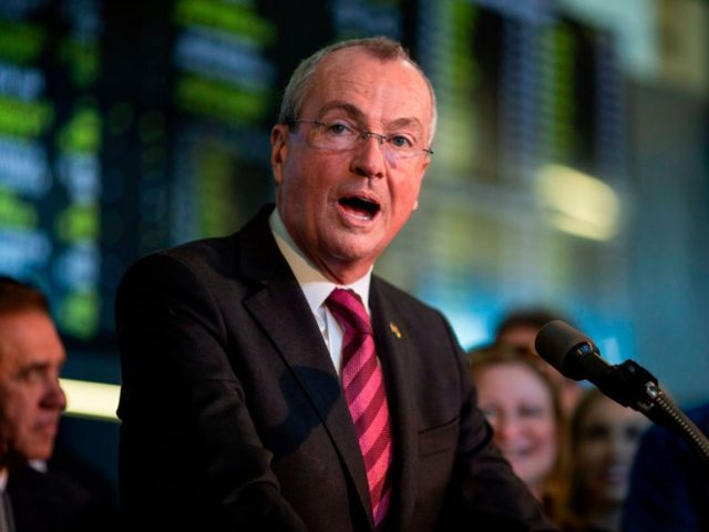 New Jersey Gov. Phil Murphy speaks on June 14, 2018 before placing a bet at the Monmouth Park Sports Book on the first day of legal sports betting in Monmouth Park in Oceanport, New Jersey. - New Jersey Gov. Phil Murphy on June 11, 2018 signed a law that authorized …