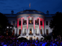WASHINGTON, DC - JULY 04: The White House prior to a firework display on July 4, 2018 in Washington, DC. (Photo by Alex Edelman/Getty Images)
