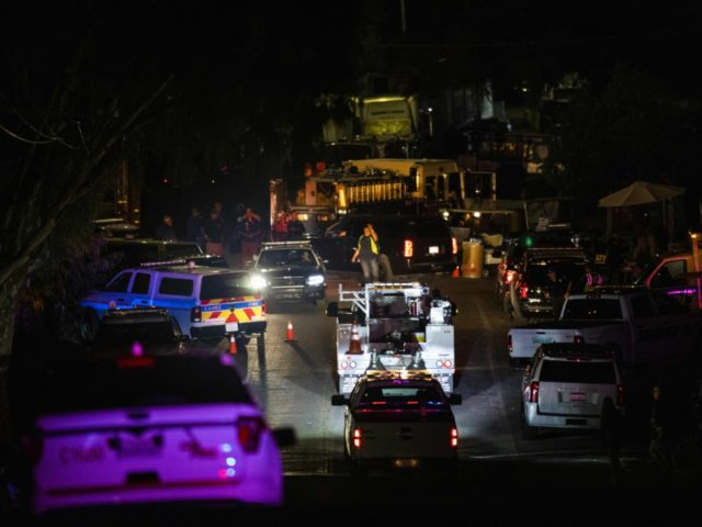 Vehicles arrive on the scene of the investigation following a deadly shooting at the Gilroy Garlic Festival in Gilroy, 80 miles south of San Francisco, California on July 28, 2019. - Three people were killed and at least 15 others injured in a shooting at a major food festival in …