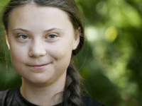 TOPSHOT - Swedish climate activist Greta Thunberg looks on during a meeting in the garden of the Hotel de Lassay ahead of a visit of the French National Assembly, in Paris, on July 23, 2019. (Photo by Lionel BONAVENTURE / AFP) (Photo credit should read LIONEL BONAVENTURE/AFP/Getty Images)