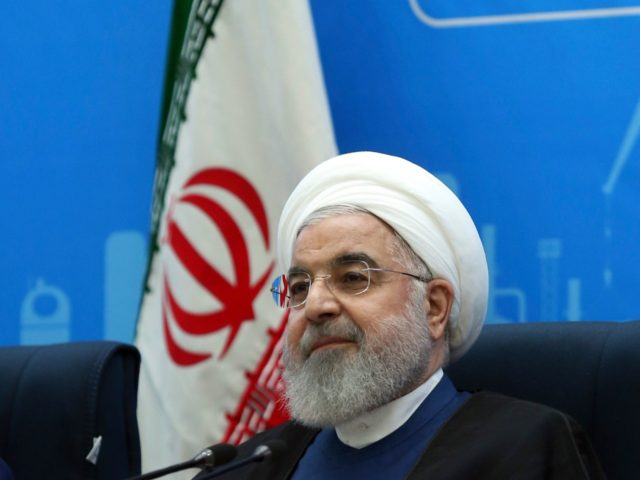 In this photo released by the official website of the office of the Iranian Presidency, President Hassan Rouhani attends a meeting during his provincial tour to the North Khorasan, Iran, Sunday, July 14, 2019. Rouhani said his country is ready to negotiate with the United States if Washington lifts its …