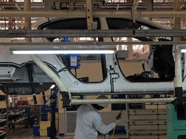 Honda Civic in manufacturing plant