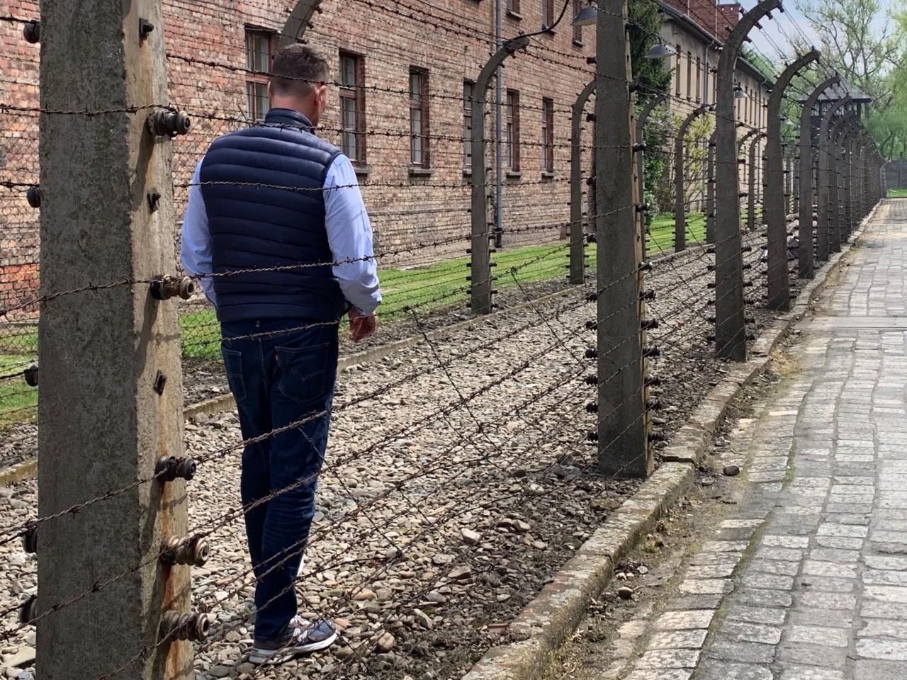 Richard Grenell at Auschwitz (Joel Pollak / Breitbart News)