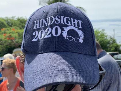 Bernie Sanders funny hat (Joel Pollak / Breitbart News)