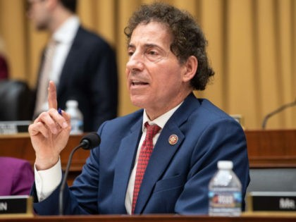 US Democratic Representative Jamie Raskin of Maryland speaks during a markup of a resolution supporting the committee report on Attorney General William Barr's failure to produce the unredacted Mueller report and underlying materials on Capitol Hill in Washington, DC, on May 8, 2019. (Photo by NICHOLAS KAMM / AFP) (Photo …