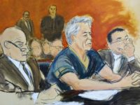 In this courtroom artist's sketch, defendant Jeffrey Epstein, center, sits with attorneys Martin Weinberg, left, and Marc Fernich during his arraignment in New York federal court, Monday, July 8, 2019. Epstein pleaded not guilty to federal sex trafficking charges. The 66-year-old is accused of creating and maintaining a network that …