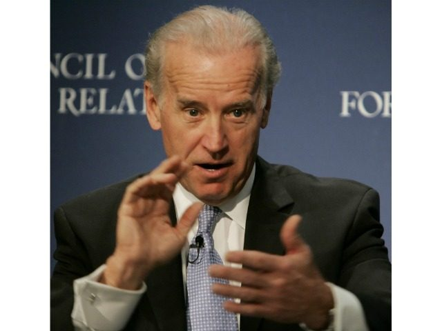 Sen. Joseph Biden, D-Del., answers a question after he addressed the Council on Foreign Relations, in New York in this Nov. 21, 2005 file photo. Biden, part of the pack of a half dozen or more Democrats who hope to break through the hype about front runners Sen. Hillary Rodham …