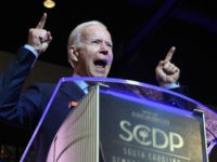 Former Vice President Joe Biden addresses the South Carolina Democratic Party convention, Saturday, June 22, 2019 in Columbia, S.C.. (AP Photo/Meg Kinnard)