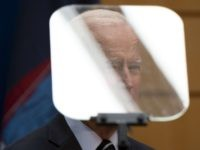 Joe Biden teleprompter (Johannes Eisele / AFP Getty)