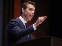 WASHINGTON, DC - JUNE 27: Sen. Josh Hawley (R-MO) addresses the Faith and Freedom Coalition's Road to Majority Policy Conference at the U.S. Capitol Visitor's Center Auditorium June 27, 2019 in Washington, DC. Created as a bridge between conservative Tea Party movement and evangelical voters, the Faith and Freedom Coalition …