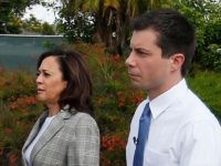 Kamala Harris - Pete Buttigieg (Rhona Wise / AFP / Getty)