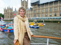 LONDON, ENGLAND - JUNE 15: Kate Hoey shows her support for the 'Leave' campaign for the upcoming EU Referendum aboard a boat on the River Thames on June 15, 2016 in London, England. Nigel Farage, leader of UKIP, is campaigning for the United Kingdom to leave the European Union in …