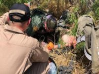 Laredo Sector Border Patrol agents administer IV fluids to a lost migrant suffering from dehydration. (Photo: U.S. Border Patrol/Laredo Sector)