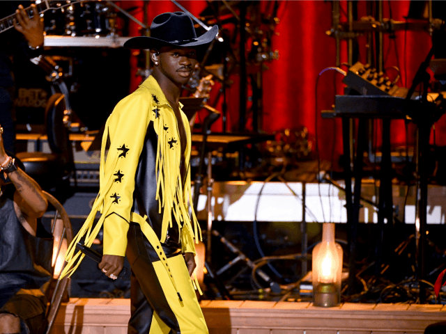 LOS ANGELES, CALIFORNIA - JUNE 23: Lil Nas X performs onstage at the 2019 BET Awards on June 23, 2019 in Los Angeles, California. (Photo by Kevin Winter/Getty Images)