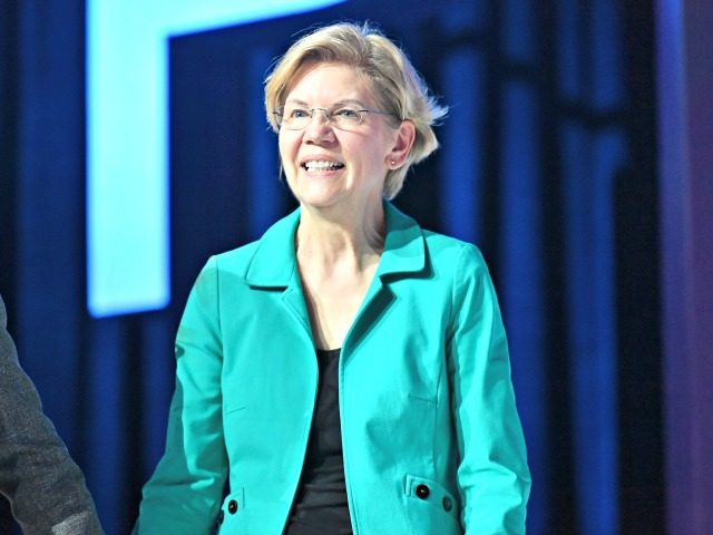 NEW ORLEANS, LOUISIANA - JULY 06: Senator Elizabeth Warren speaks on stage at 2019 ESSENCE Festival Presented By Coca-Cola at Ernest N. Morial Convention Center on July 06, 2019 in New Orleans, Louisiana. (Photo by Paras Griffin/Getty Images for ESSENCE)
