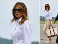 First Lady Melania Trump jet-setted to New Jersey on Friday …