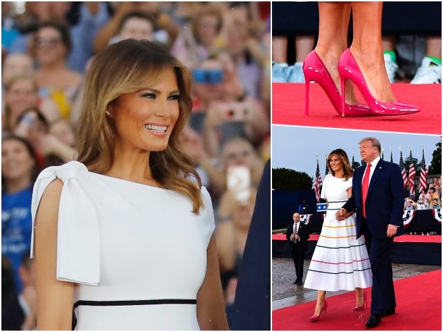 First Lady Melania Trump defied the Fourth of July rain …