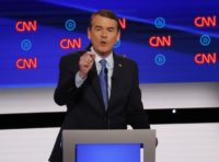 Sen. Michael Bennet, D-Colo., speaks during the second of two Democratic presidential primary debates hosted by CNN Wednesday, July 31, 2019, in the Fox Theatre in Detroit. (AP Photo/Paul Sancya)