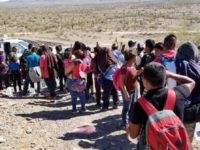 Migrants Crossing Desert with Children in Arizona Desert - CBP Photo