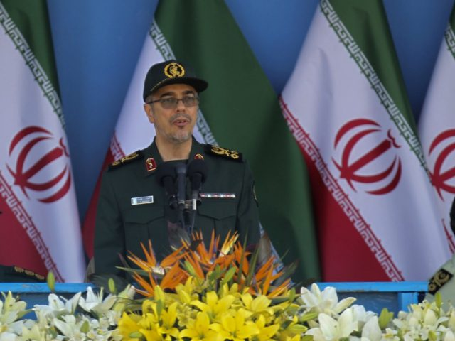 Iranian General Mohammad Bagheri, chief of staff of Iran's armed forces, speaks during the annual military parade marking the anniversary of the start of Iran's 1980-1988 war with Iraq, on September 21, 2016, in the capital Tehran. / AFP / CHAVOSH HOMAVANDI (Photo credit should read CHAVOSH HOMAVANDI/AFP/Getty Images)