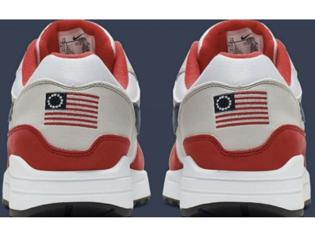 Nike has pulled the Betsy Ross Flag design over concerns raised by Colin Kaepernick. (Photo: Nike)
