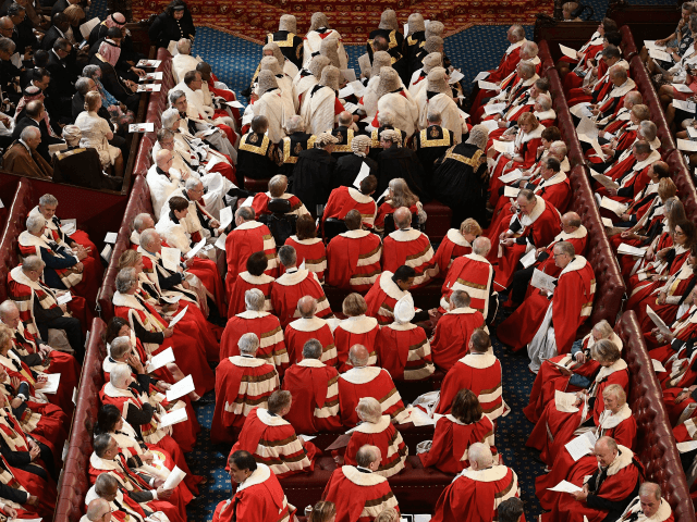Peers take their seats in the House of Lords ahead of the State Opening of Parliament in the Houses of Parliament in London on June 21, 2017. Queen Elizabeth II will formally open parliament and announce the British government's legislative programme on Wednesday, two days later than planned. The state …
