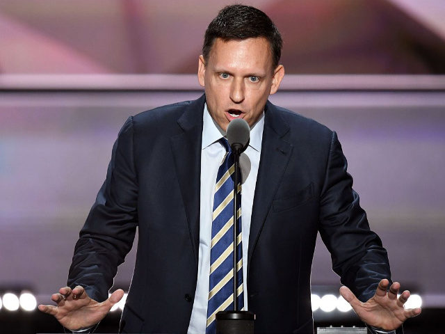 PayPal co-founder Peter Thiel speaks on the last day of the Republican National Convention on July 21, 2016, in Cleveland, Ohio. / AFP / JIM WATSON (Photo credit should read JIM WATSON/AFP/Getty Images)