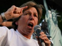 "WASHINGTON, DC - JULY 12: President of American Federation of Teachers Randi Weingarten speaks during a ""Lights for Liberty: A Nationwide Vigil to End Human Detention Camps"" event at Lafayette Square July 12, 2019 in Washington, DC. Organizers hosted the event to call attention to the poor conditions at immigrant …"