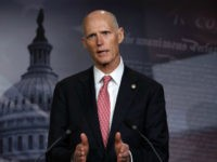 U.S. Sen. Rick Scott (R-FL) speaks during a news conference at the U.S. Capitol January 17, 2019 in Washington, DC. Sen. Scott held the news conference to discuss the partial government shutdown. (Photo by Alex Wong/Getty Images)