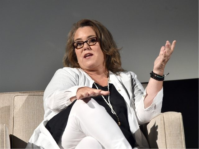 LOS ANGELES, CA - AUGUST 07: Actor Rosie O'Donnell of 'SMILF' speaks onstage at the Showtime portion of the 2017 Summer Television Critics Association Press Tour on August 7, 2017 in Los Angeles, California. (Photo by Alberto E. Rodriguez/Getty Images For Showtime)