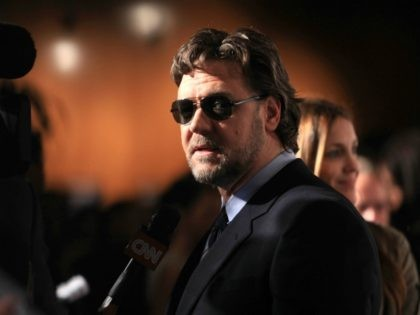 """LOS ANGELES, CA - NOVEMBER 16: Actor Russell Crowe arrives at """"The Next Three Days"""" Los Angeles Special Screening at Directors Guild of America on November 16, 2010 in Los Angeles, California. (Photo by Angela Weiss/Getty Images)"""