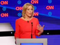 Sen. Kirsten Gillibrand, D-N.Y., speaks during the second of two Democratic presidential primary debates hosted by CNN Wednesday, July 31, 2019, in the Fox Theatre in Detroit. (AP Photo/Paul Sancya)