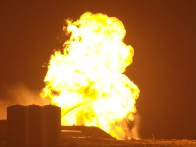 SpaceX Starhopper explosion