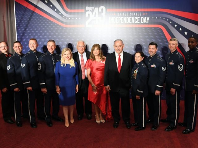 The Netanyahus at American Independence Day event at the Jerusalem International Convention Center (1)