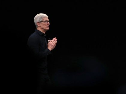 Tim Cook CEO of Apple in all black