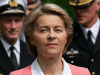 SCHWIELOWSEE, GERMANY - MAY 21: German Defense Minister Ursula von der Leyen tours a memorial to Bundeswehr soldiers killed in missions abroad with Dutch Defense Minister Ank Bijleveld (not pictured) prior to the arrival of King Willem Alexander of The Netherlands and Queen Maxima of The Netherlands at the Bundeswehr …