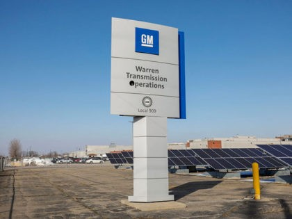 WARREN, MI - FEBRUARY 22: A General Motors Warren Transmission Operations sign is shown at the plant where United Auto Workers members held a prayer vigil on February 22, 2019 in Warren, Michigan. Almost 300 people are being laid off at the plant as a result of GM's decision to …