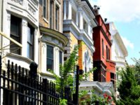 WASHINGTON, DC - JULY 2: Kalorama Triangle boosts historic row houses along Columbia Road NW that are photographed July 02, 2017 in Washington, DC. Kalorama Triangle is a residential enclave of Adams Morgan located in Northwest Washington bounded by three major thoroughfares: Connecticut Avenue, Calvert Street, and Columbia Road. (Photo …